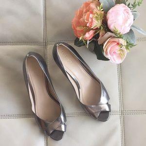 Cole Haan Silver Open toe heels